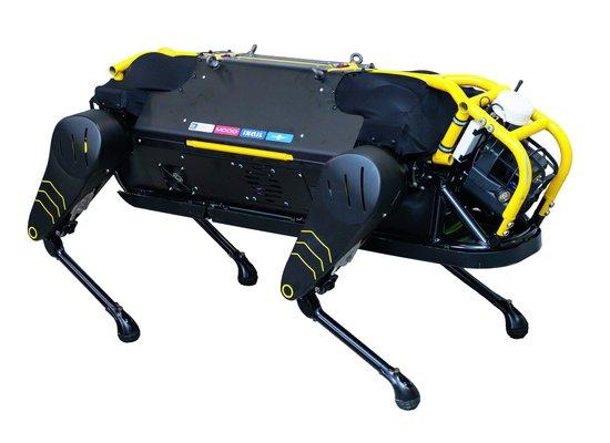 Kann ein Roboterhund ein Flugzeug ziehen?